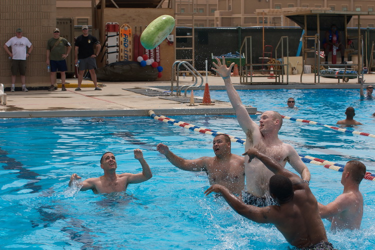 July 4th Pool party, Camp Arifjan, Kuwait